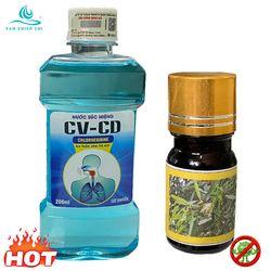Nước súc miệng CV-CD chính hãng chai 200ml kèm 1 chai tinh dầu KHUYNH DIỆP nguyên chất 5ml TTC giá sỉ
