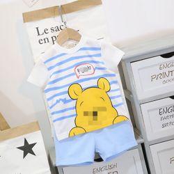 Bộ thun 100% cotton họa tiết Pooh và Tiger giá sỉ