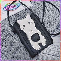 túi ví đeo chéo điện thoại mèo trắng dễ thương thời trang Shalla KT80 giá sỉ