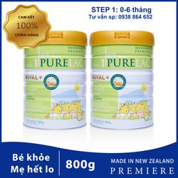 Combo Sữa bột công thức PureLac New Zealand hộp 800gr cho bé từ 0 đến 6 tháng tuổi giá sỉ