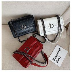 Túi đeo chéo nắp D vân da rắn thời trang VIDEO giá sỉ