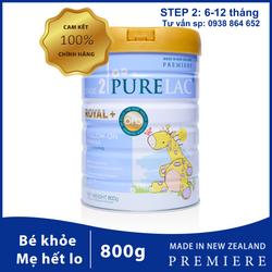 Sữa bột công thức PureLac New Zealand hộp 800gr cho bé từ 06 đến 12 tháng giá sỉ