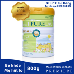 Sữa bột công thức PureLac New Zealand hộp 800gr cho bé từ 0 đến 6 tháng tuổi giá sỉ