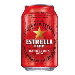 Bia Estrella Damm 330ml - Thùng 24 lon giá sỉ
