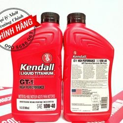 Kendall Liquid Titanium 10W40 SN+ Nhớt nhập mỹ cao cấp cho xe tay ga, ô tô giá sỉ
