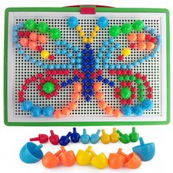 Bộ đồ chơi gắn hạt ghép hình cho bé giá sỉ