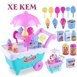 Bộ đồ chơi xe đẩy bán kem 16 món cho bé giá sỉ