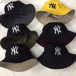 Mũ bucket thêu chữ NY 2 mặt giá sỉ