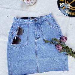 Chân váy jeans ảnh thât cao cấp giá sỉ
