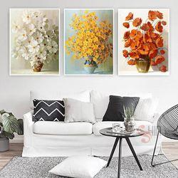 Khung tranh Canvas hoa cánh bướm TPD-72 giá sỉ