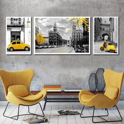 Bộ khung tranh Canvas phố vàng TPD-133 giá sỉ