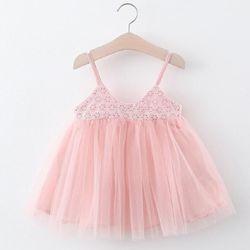Váy 2 dây dập hoa trang trí xinh xắn giá sỉ