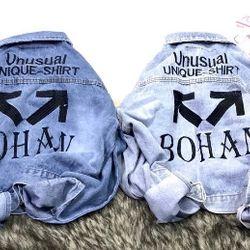 Áo khoác jean nữ in hình cực đẹp chuyên sỉ jean 2KJean giá sỉ