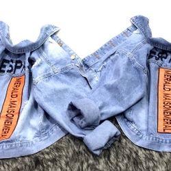 Áo khoác jean nữ thêu chữ cực đẹp chuyên sỉ jean 2KJean giá sỉ