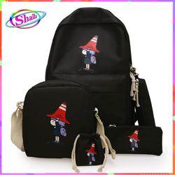 Bộ combo balo túi 4 món Nhóc đội nón thời trang hàn quốc Shalla MX3 giá sỉ