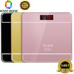 [ ] Cân điện tử mặt kính ISCALE, cân sức khỏe gia đình - Sunny House giá sỉ