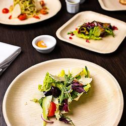 Đĩa ăn bằng mo cau thân thiện môi trường DT25 giá sỉ