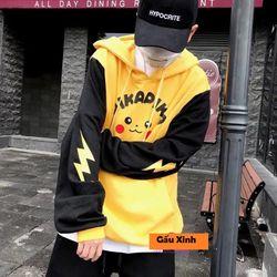 Áo hoodie nam nữ in pikachu giá sỉ, giá bán buôn giá sỉ