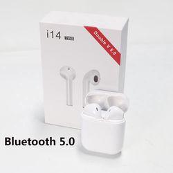 Tai nghe bluetooth i14 điều khiển cảm ứng kiểu airpod TWS Wireless Bluetooth 5.0 có hộp sạc giá sỉ