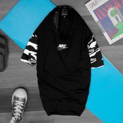 Quần áo thể thao- Áo thun lạnh NIK.E phối tay 4 chiều chính phẩm- Big sport giá sỉ