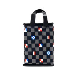 Túi giữ nhiệt kiểu đứng caro lá cờ màu đen giá sỉ