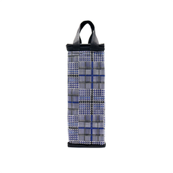 Túi giữ nhiệt bình nước caro xanh đen giá sỉ