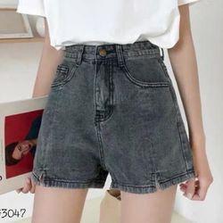 Quần short jean nữ ngắn màu xám kiểu cực hot chuyên sỉ jean 2KJean giá sỉ