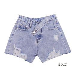 Quần short jean ngắn nữ kiểu thắt lưng chuyên sỉ jean 2KJean giá sỉ