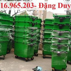 Phân phối thùng rác 660l nhựa HPDE xanh lá tại bệnh viện giá sỉ