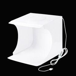 Hộp chụp sản phẩm PULUZ phiên bản led tròn mới nhất 2020 - kích thước 23x24x23cm giá sỉ