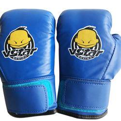 Găng tay boxing trẻ em V.STAR màu xanh giá sỉ