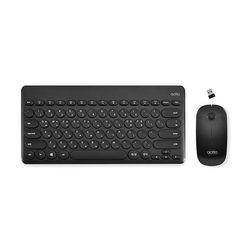 Combo bàn phím và chuột không dây kiểu dáng Mini Retro khoảng cách kết nối đến 20m - Mini Retro Keyboard + Mouse Actto KMC-03 giá sỉ