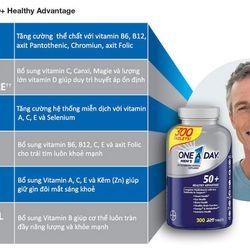 Viên Uống Vitamin Tổng Hợp One A Day For's Men 50+ (300v) – Mỹ giá sỉ