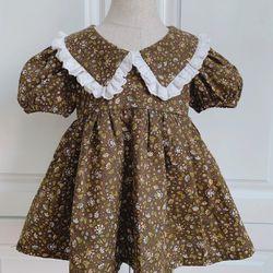 Đầm bé gái kèm tutrban giá sỉ
