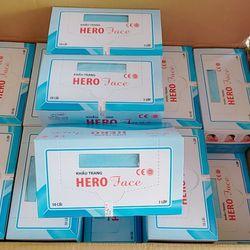Khẩu trang y tế HERO Sỉ = lẻ : 85k / hộp 50 cái ( 3 lớp ) Hàng có sẳn sl nha khách Có Tem đầy đủ lun nha , đc phép vận chuyển qua nước ngoại vô tư lun nha khách ơi giá sỉ