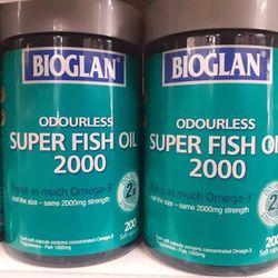 VIÊN BỔ SUNG DẦU CÁ BIOGLAN SUPER FISH OIL 2000MG 200 VIÊN giá sỉ