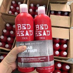 Dầu gội/xả Tigi Head bed đỏ dành cho tóc hư tổn 750ml giá sỉ