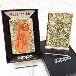 Bật Lửa ZIPPO Mỹ, Bật Lửa ZIPPO USA - Đồng Khắc 5 Mặt Thiên Thần Xài Xăng Có Tem Đỏ giá sỉ