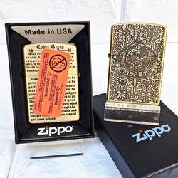 Bật Lửa ZIPPO Mỹ, Bật Lửa ZIPPO USA - Đồng Khắc 5 Mặt BEAST Xài Xăng Có Tem Đỏ giá sỉ