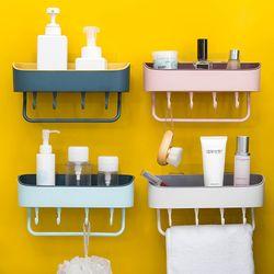 Kệ treo tường đựng đồ phòng tắm có 4 móc-DFHRFG giá sỉ