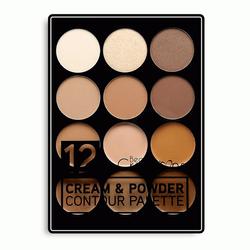 Bảng Phấn Mắt Và Tạo Khối Beauty Creations 12 Color Cream & Contour Palette 15g giá sỉ