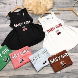 Áo thun giấy 3 lỗ chữ baby girl giá sỉ