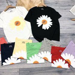 Áo thun giấy hoạt tiết hoa cúc giá sỉ
