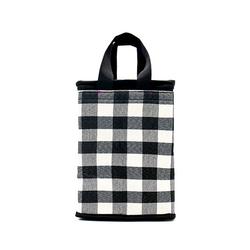 Túi giữ nhiệt kiểu đứng caro trắng đen bản lớn giá sỉ