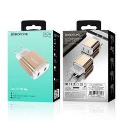 Cóc Sạc BA9A Borofone - 2 Cổng USB - chuẩn EU