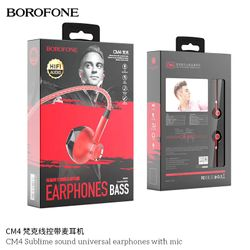 Tai Nghe Nhét Tai Có Dây Borofone CM4 kèm mic zắc 3.5