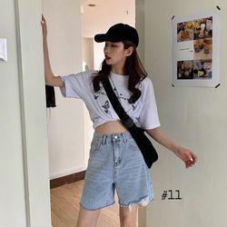Quần ngố jean nữ rách lai chuyên sỉ jean 2KJean giá sỉ