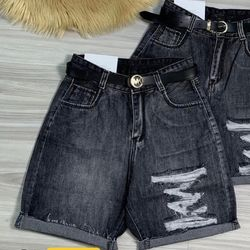 Quần ngố jean nữ rách kiểu màu xám chuyên sỉ jean 2KJean giá sỉ