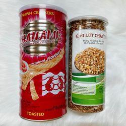 Combo gạo lứt và bánh snack giá sỉ