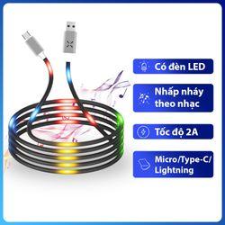 Cáp sạc đèn LED phát sáng theo âm nhạc giá sỉ